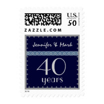 40th Year Anniversary - Midnight and Silver Stamp