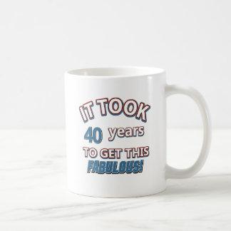 40th year birthday designs coffee mug