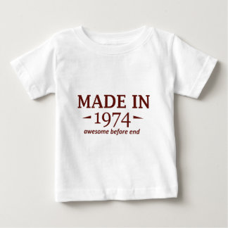 40th year old birthday designs infant t-shirt