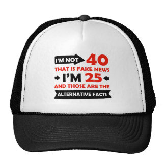 40th year old birthday gifts trucker hat
