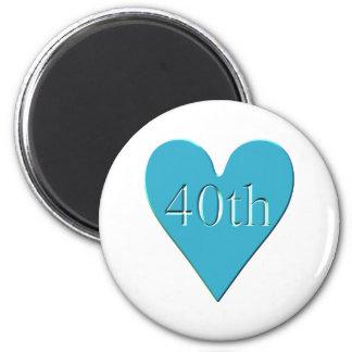 40thanniversary3t 2 inch round magnet
