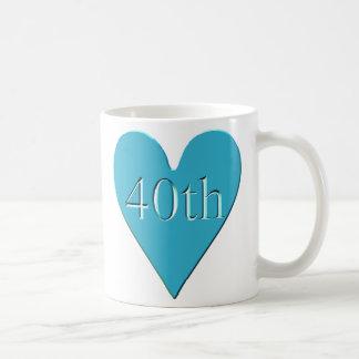 40thanniversary3t classic white coffee mug