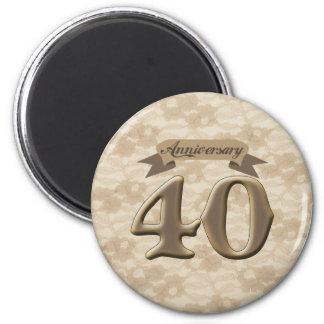 40thanniversary5 2 inch round magnet