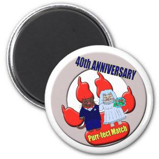 40thanniversaryt-shirts 2 inch round magnet
