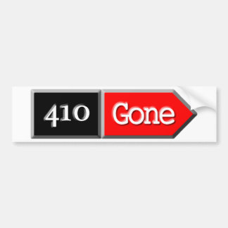 410 - Gone Car Bumper Sticker
