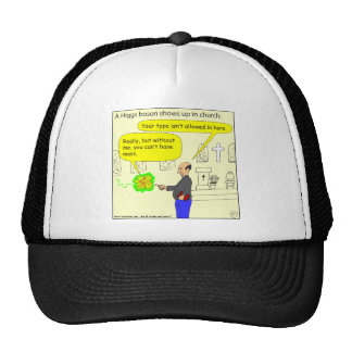 410 higgs boson in church Cartoon Trucker Hat