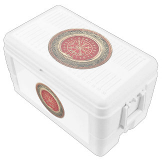 [410] Vegvisir - Viking Gold Magic Runic Compass Chest Cooler