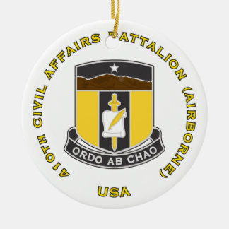 410th Civil Affairs Battalion Ceramic Ornament