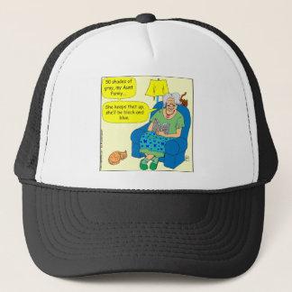 411 50 shades of light-black Cartoon Trucker Hat
