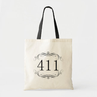 411 Area Code Tote Bags