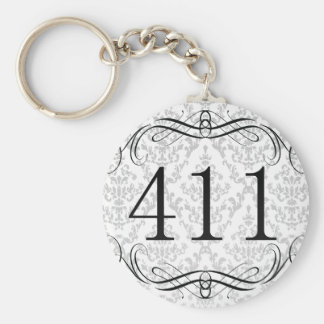 411 Area Code Basic Round Button Keychain