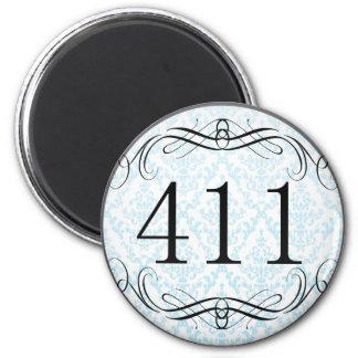 411 Area Code Refrigerator Magnet