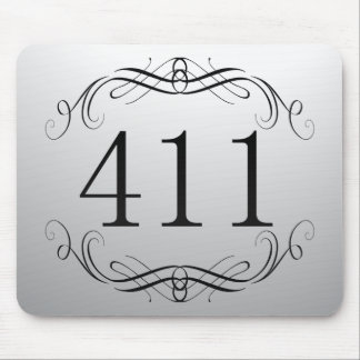 411 Area Code Mouse Pad