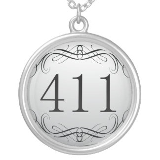 411 Area Code Necklaces