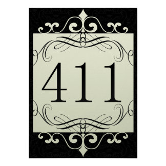 411 Area Code Posters