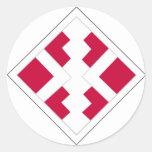 411th Engineer Brigade Round Stickers