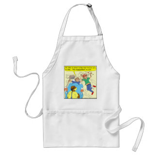 412 marriage is off Cartoon Adult Apron