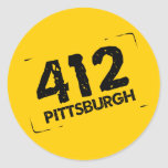 412 Pittsburgh Etiquetas Redondas