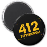 412 Pittsburgh Imán Redondo 5 Cm