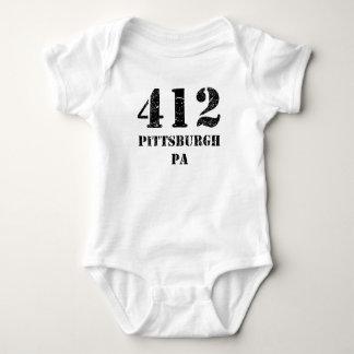 412 Pittsburgh PA Baby Bodysuit