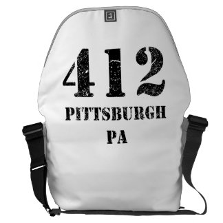 412 Pittsburgh PA Courier Bag