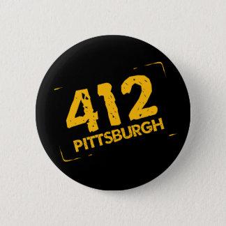 412 Pittsburgh Pinback Button