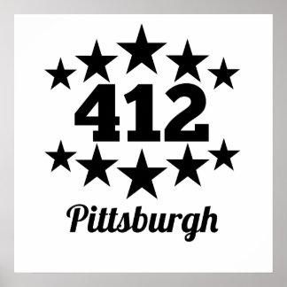 412 Pittsburgh Póster