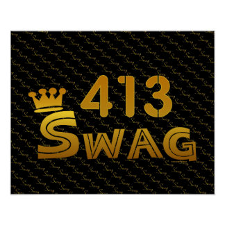 413 Area Code Swag Posters