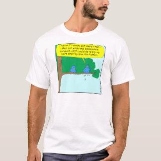 413 flipped him the human cartoon T-Shirt