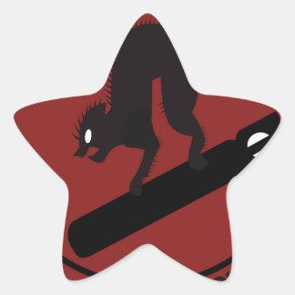 413o Prueba de vuelo SQ Pegatina En Forma De Estrella