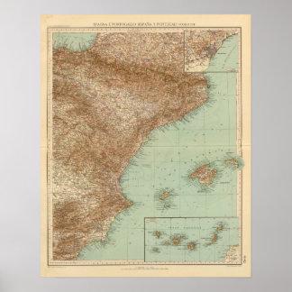 4142 España, Portugal, del este Póster