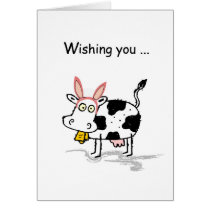 4145 Easter Cow Card