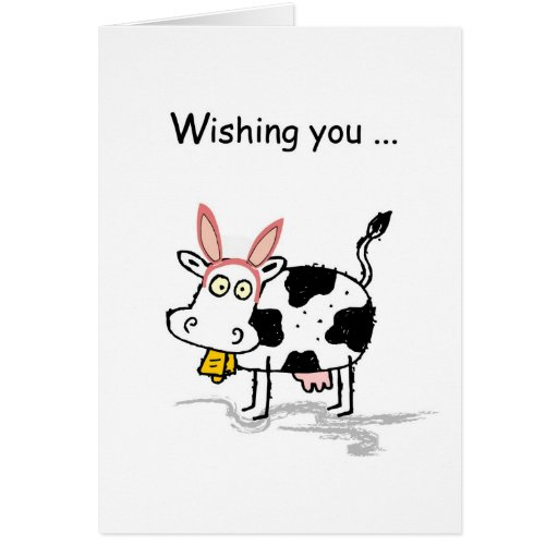 4145 Easter Cow Greeting Cards