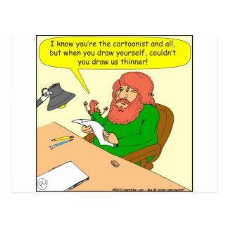 415 draw me thinner cartoon postcard