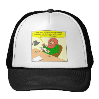 415 draw me thinner cartoon trucker hat
