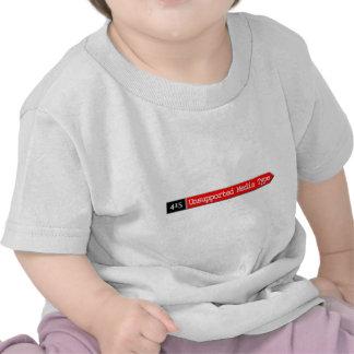 415 - Tipo de medios sin apoyo Camiseta