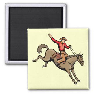 4162007-133 Cartoon Cowboys Horses horseback-ridin Magnet