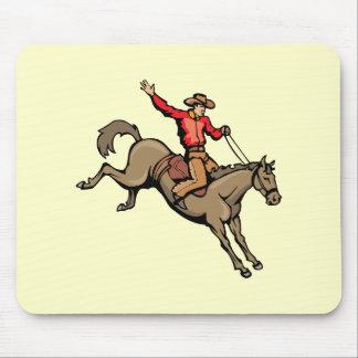 4162007-133 Cartoon Cowboys Horses horseback-ridin Mouse Pad