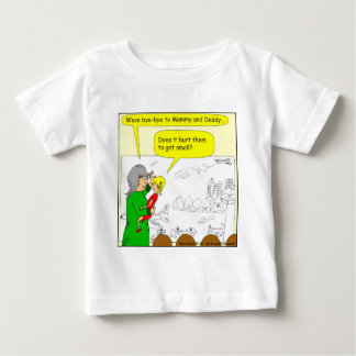 417 airplane gets smaller cartoon baby T-Shirt