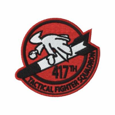 417o Polo W/F-4 de TFS e indicativo (polo oscuro)