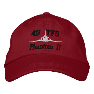 417th TFS F-4 Golf Hat Embroidered Hat
