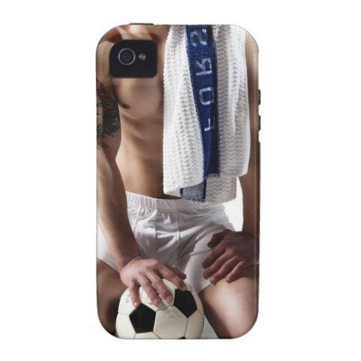 41873a Soccer Jock Vibe iPhone 4 Case
