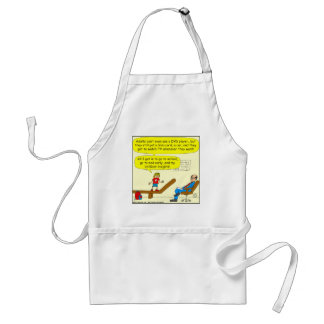 418 adults cant use DVD player Cartoon Adult Apron