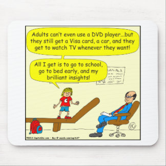 418 adults cant use DVD player Cartoon Mouse Pad