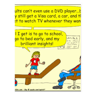 418 adults cant use DVD player Cartoon Postcard