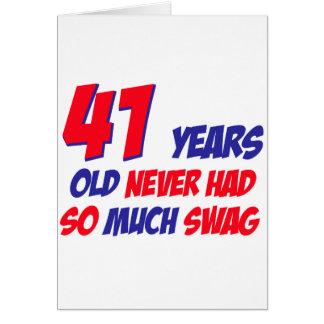 41 años divertidos de cumpleaños tarjeta de felicitación