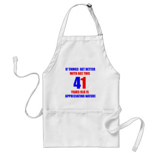 41 Birthday Design Adult Apron