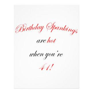 41 Birthday Spanking Custom Flyer