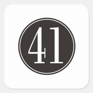 #41 Black Circle Square Sticker