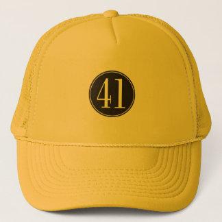 #41 Black Circle Trucker Hat